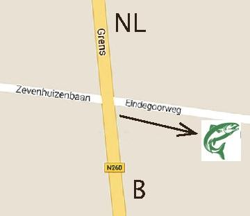 Route forellenvijver aan de Grens